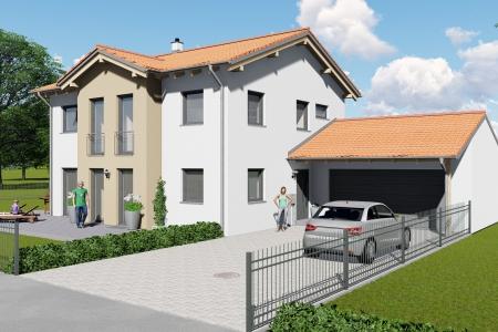 Neubau eines Einfamilienhauses in Untermeitingen Bild 1