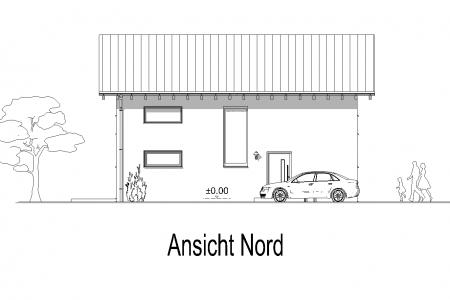 Neubau eines Einfamilienhauses in Petzenhausen Ansicht-Nord