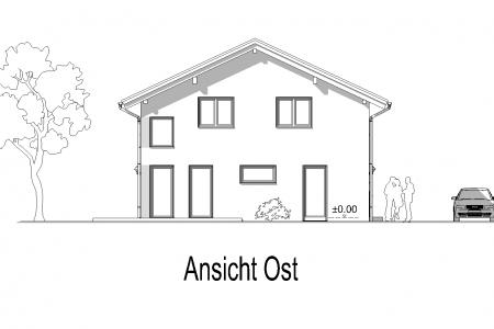 Neubau eines Einfamilienhauses in Petzenhausen Ansicht-Ost