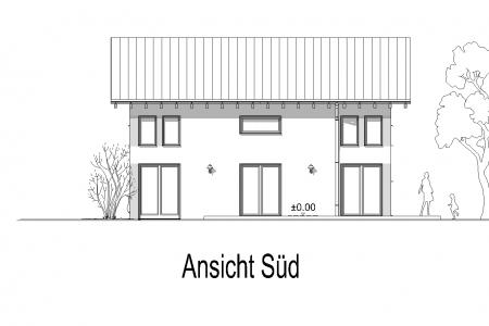 Neubau eines Einfamilienhauses in Petzenhausen Ansicht-Süd