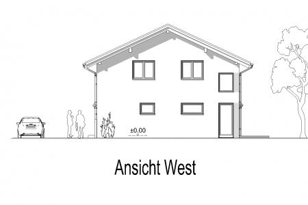 Neubau eines Einfamilienhauses in Petzenhausen Ansicht-West