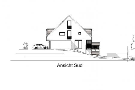 Neubau von 3 Reihenhäusern-AN-Süd