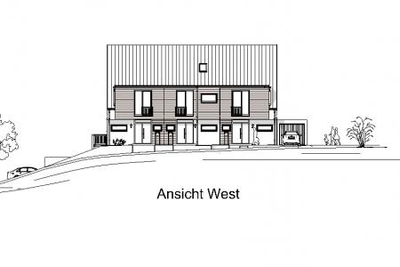 Neubau von 3 Reihenhäusern-AN-West